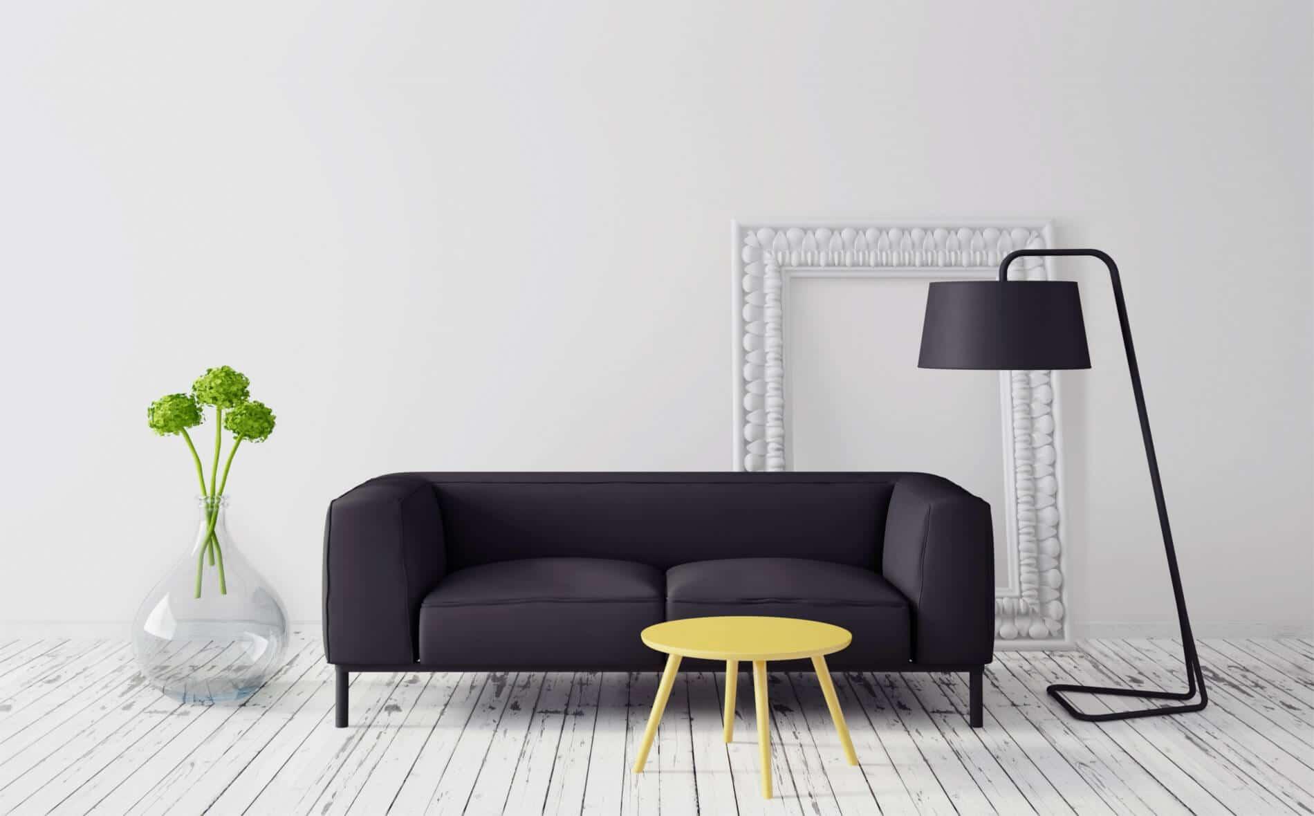 Aménagement intérieur salon minimaliste