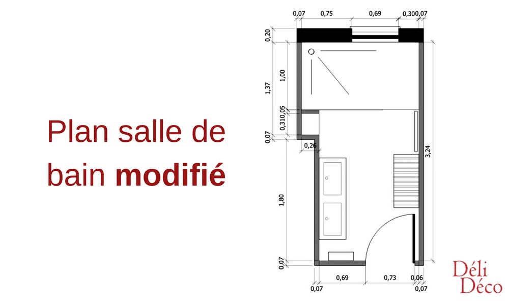 plan aménagé + mobilier salle de bain