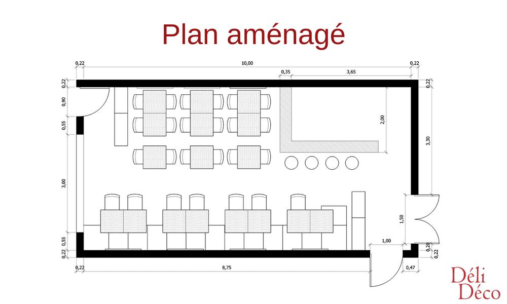 plan aménagé + mobilier restaurant