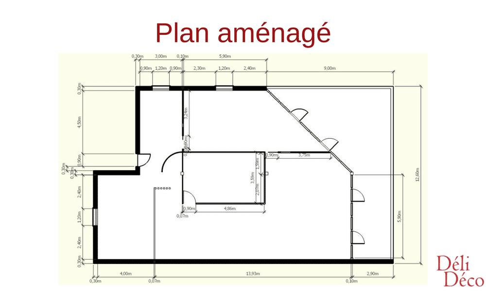 plan aménagé bureaux d'entreprise