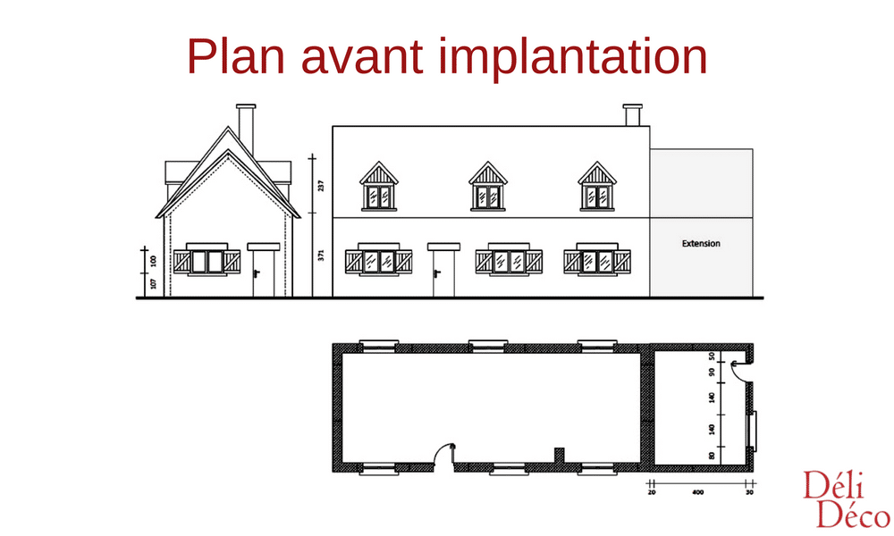 plan avant implantation studio étudiant