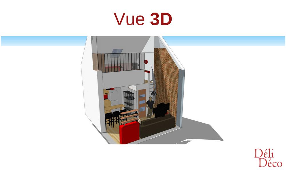 vue 3d studio étudiant