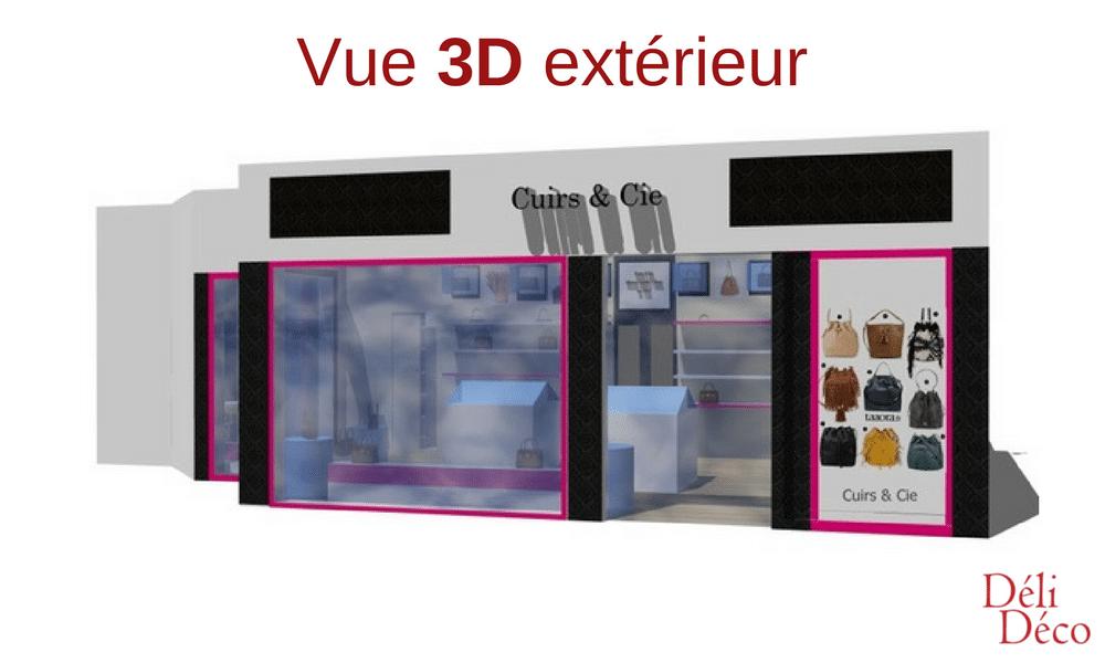 vue 3d façade maroquinerie