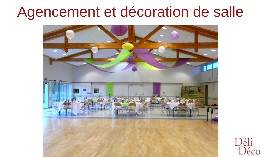 agencement et décoration de salle de réception