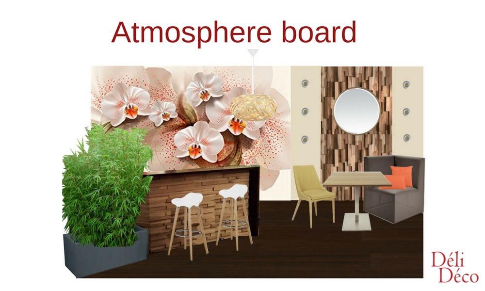 restaurant's atmosphere board