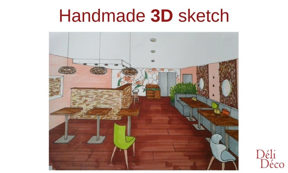 handmade 3D sketch