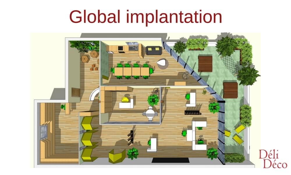 implantation globale bureau de startup