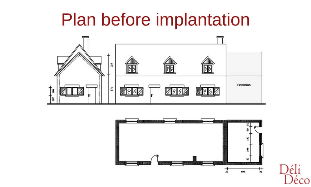 plan before implantation of a loft