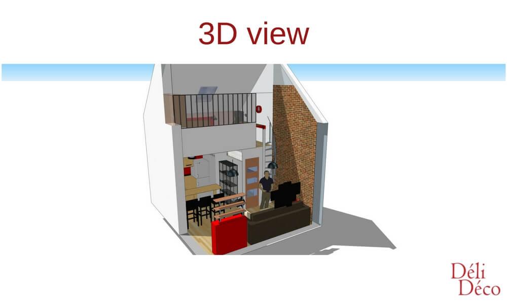 3D view of a loft