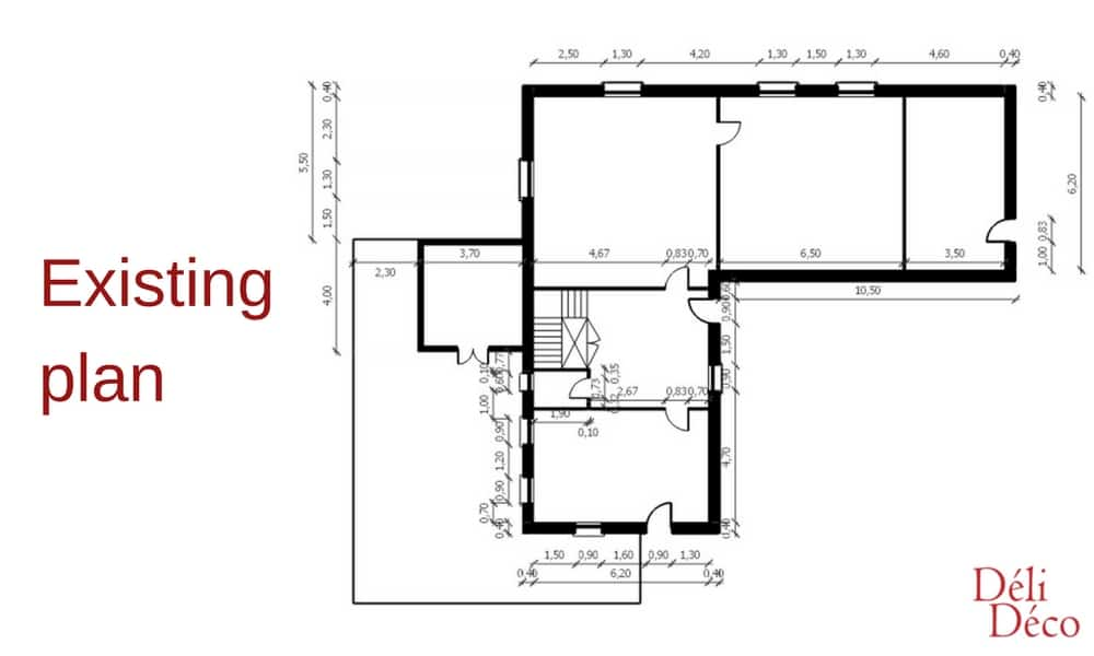 existing plan of house