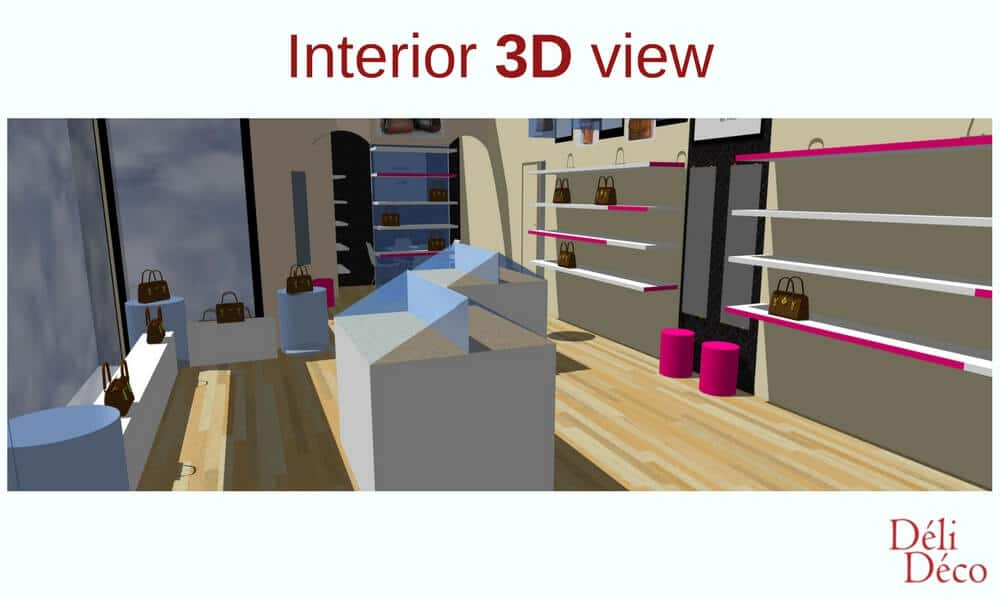 interior 3D view of leather goods