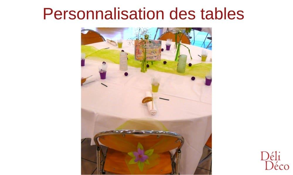 personnalisation des tables