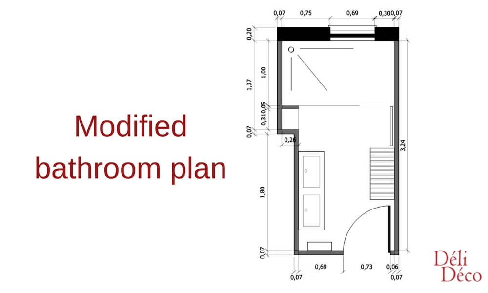 modified bathroom 2D plan