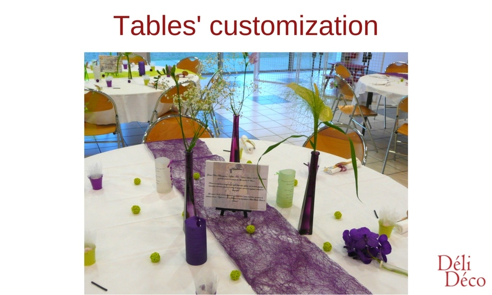 table customization for event decoration
