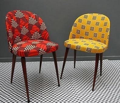 fauteuil imprimé wax