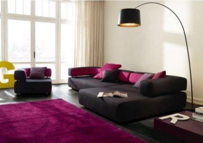 violet dans le salon