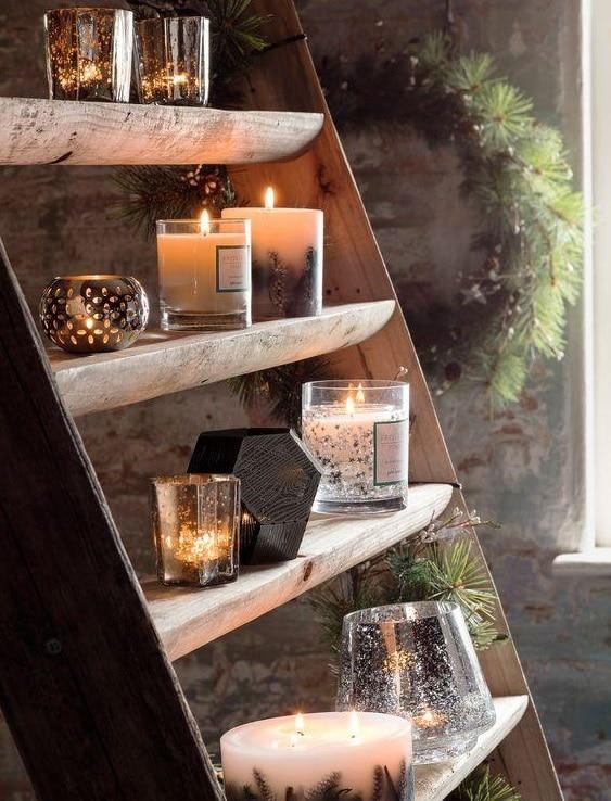 escalier de bougies