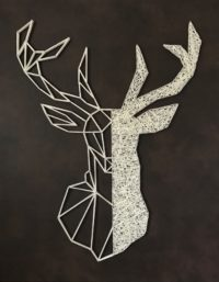 cerf en string art