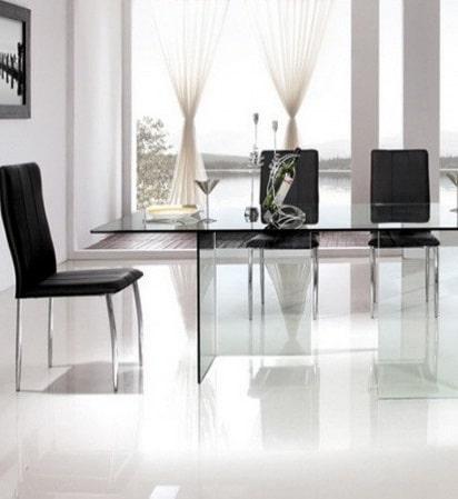 table de séjour en verre