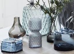 vase en verre texturé