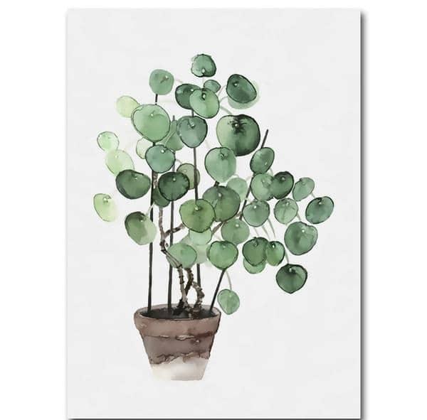 végétal peint