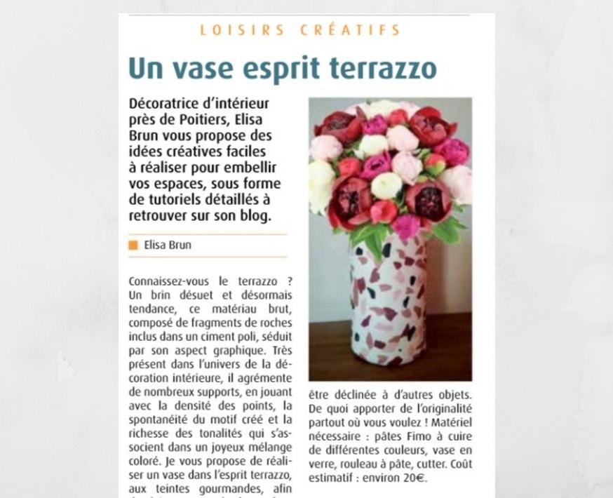 article vase DIY en terrazzo