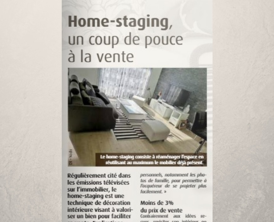 article sur le home staging