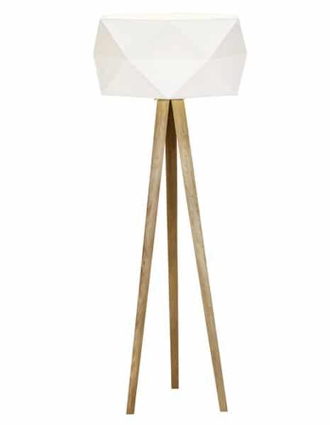 lampe de sol trépied style scandinave