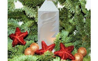 lanterne décorative en papier pour bougie