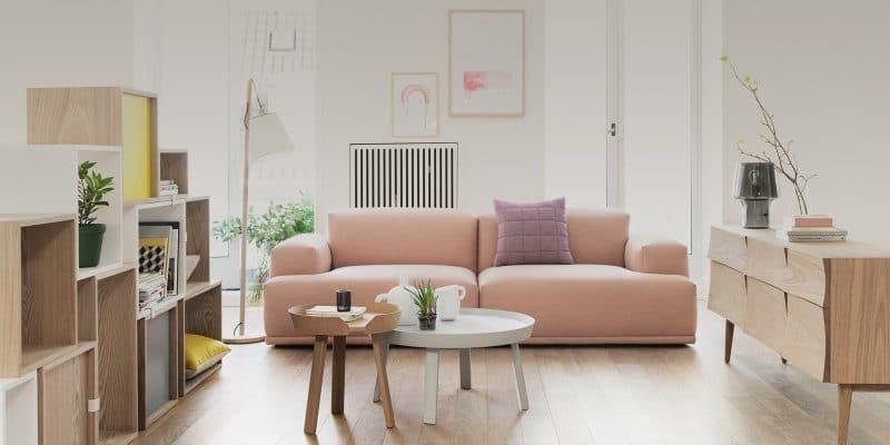 salon design scandinave épuré
