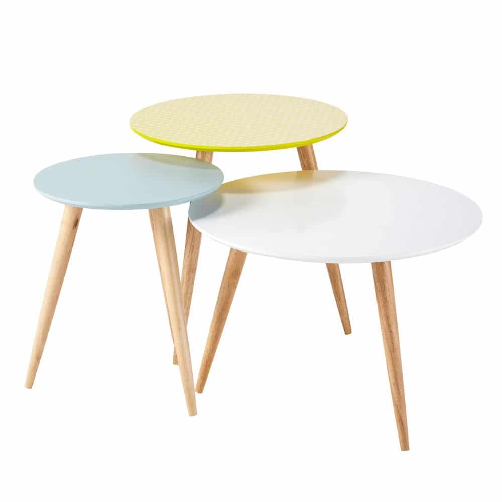 tables basses gigognes esprit scandinave
