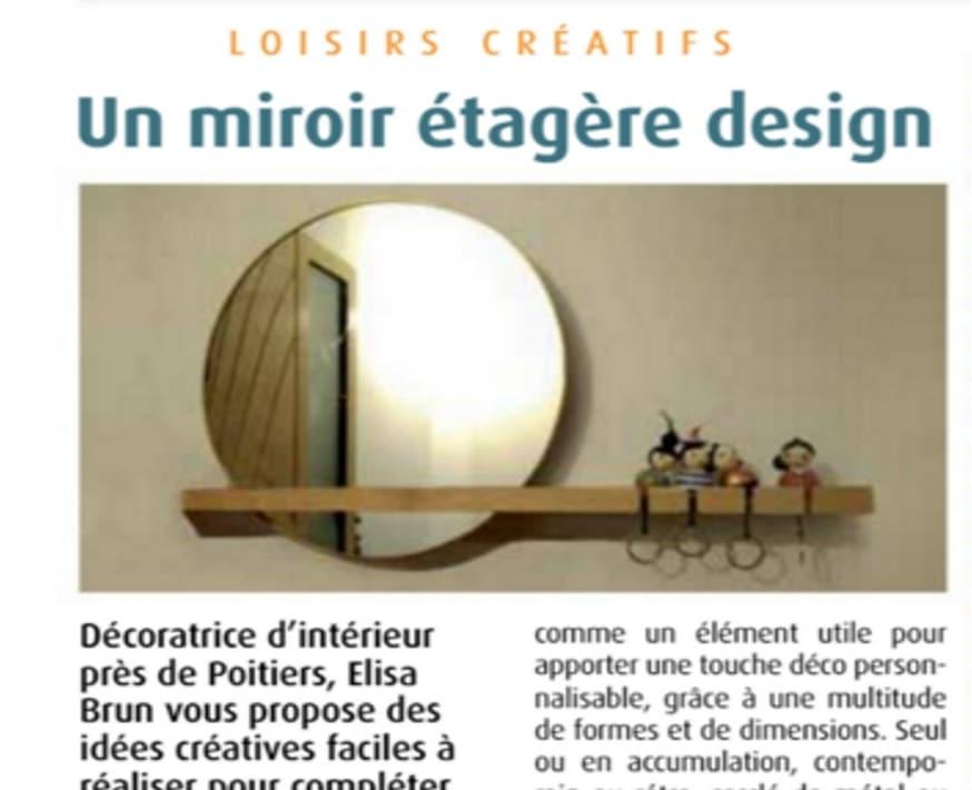 tuto miroir étagère design