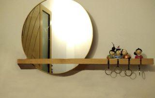 étagère miroir murale