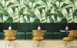 papier peint feuillage tropical