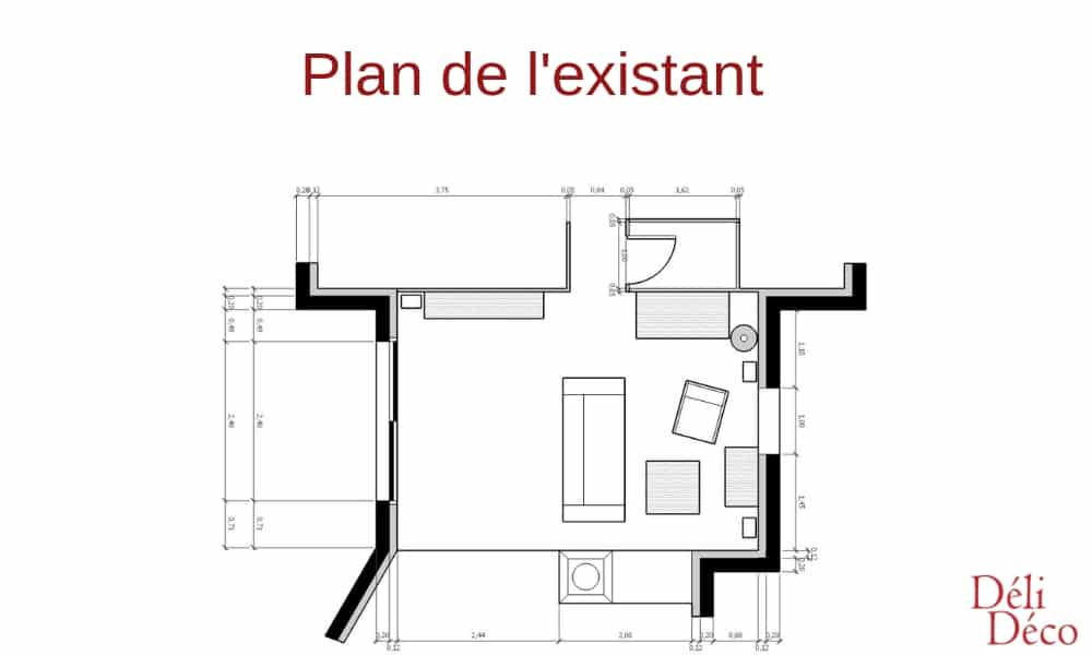 plan salon 2D