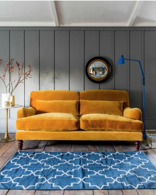 mobilier ocre jaune