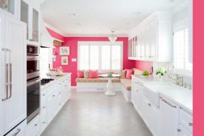 rose flashy pour une cuisine