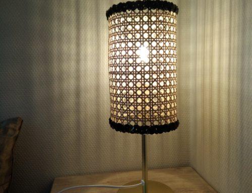 Tuto déco: Une lampe à poser en cannage