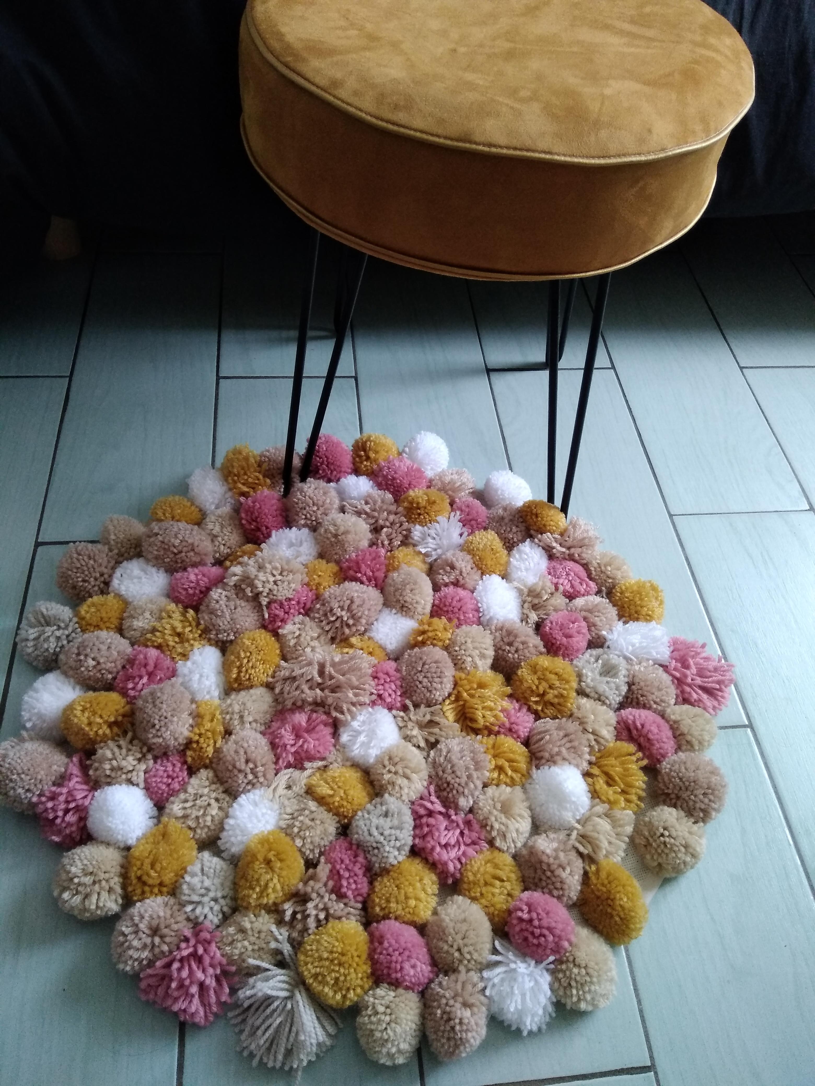 tapis rond en laine