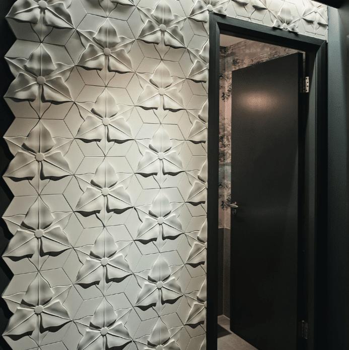 Carrelage 3D motifs floraux