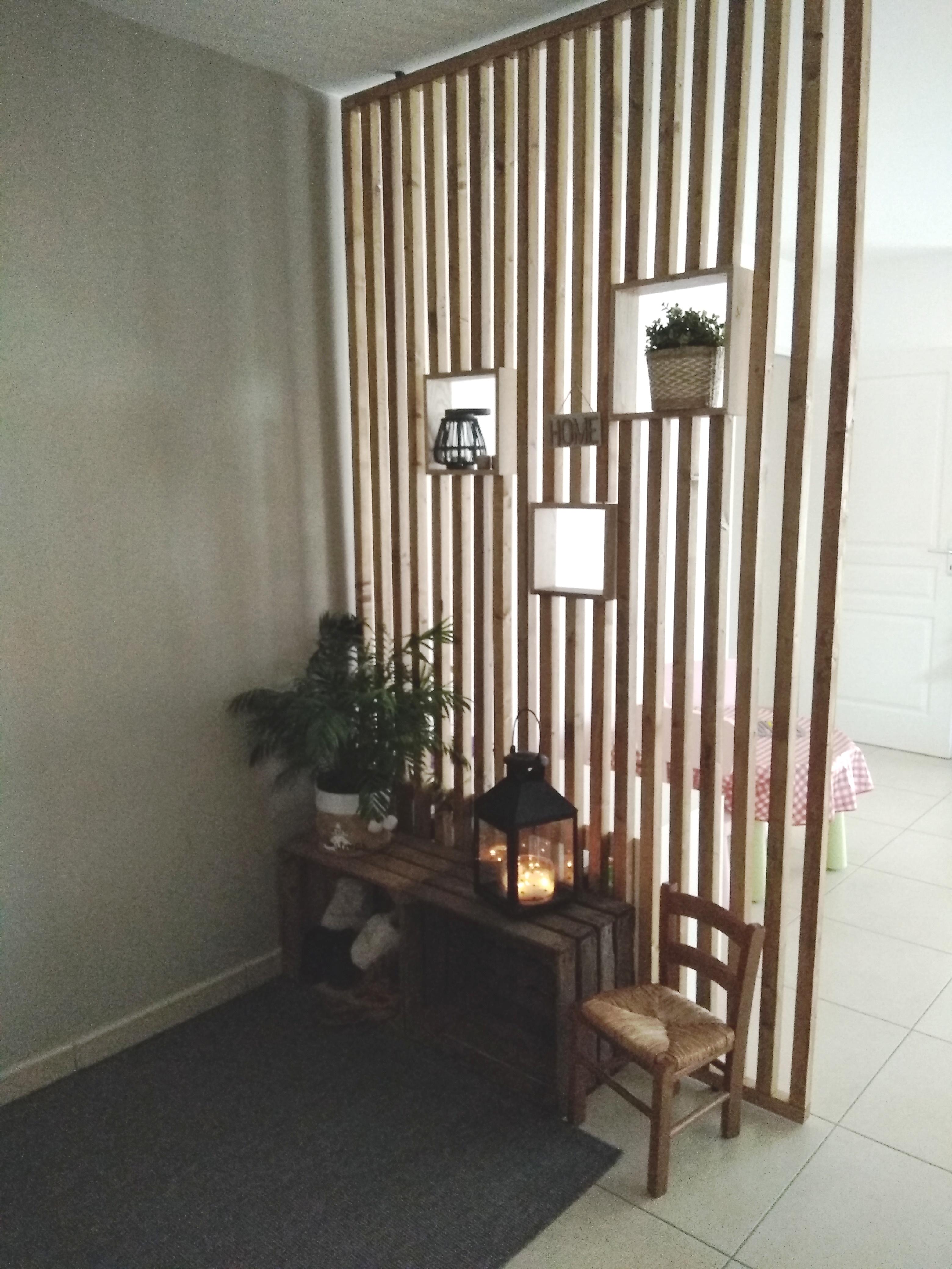 Séparateur en tasseaux de bois sur mesure