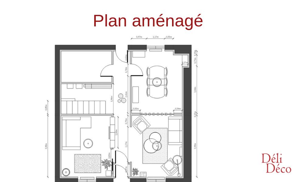 Plan aménagé maison bourgeoise