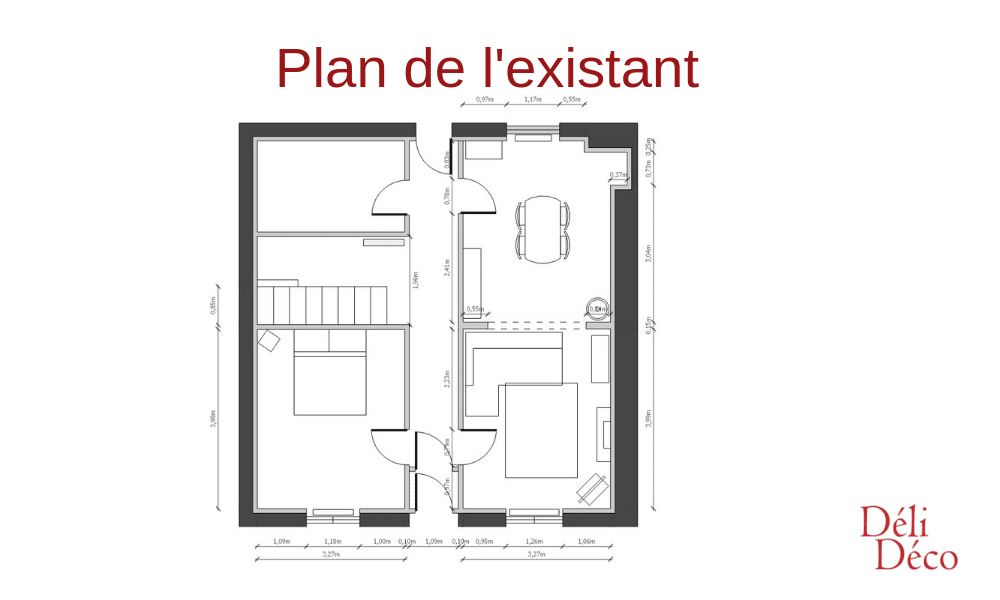 Plan existant maison bourgeoise