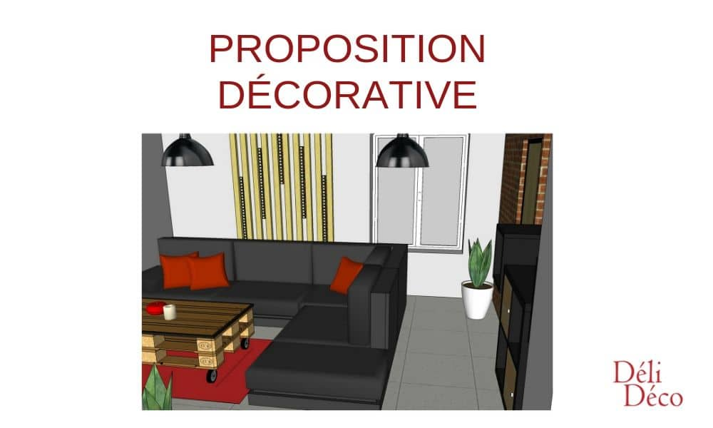 Proposition de décoration salon ambiance industrielle_Vue1