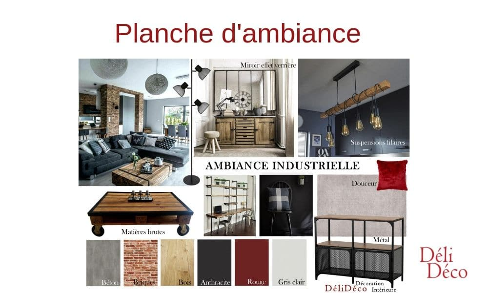 Planche ambiance style industriel