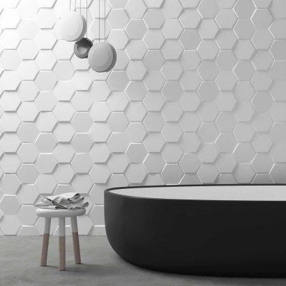 Carrelage 3D salle de bain