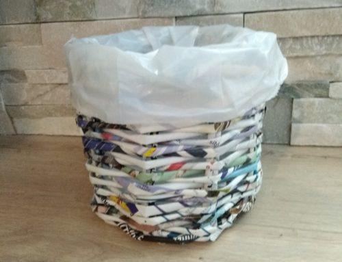 Tuto déco: Une corbeille papier récup' DIY