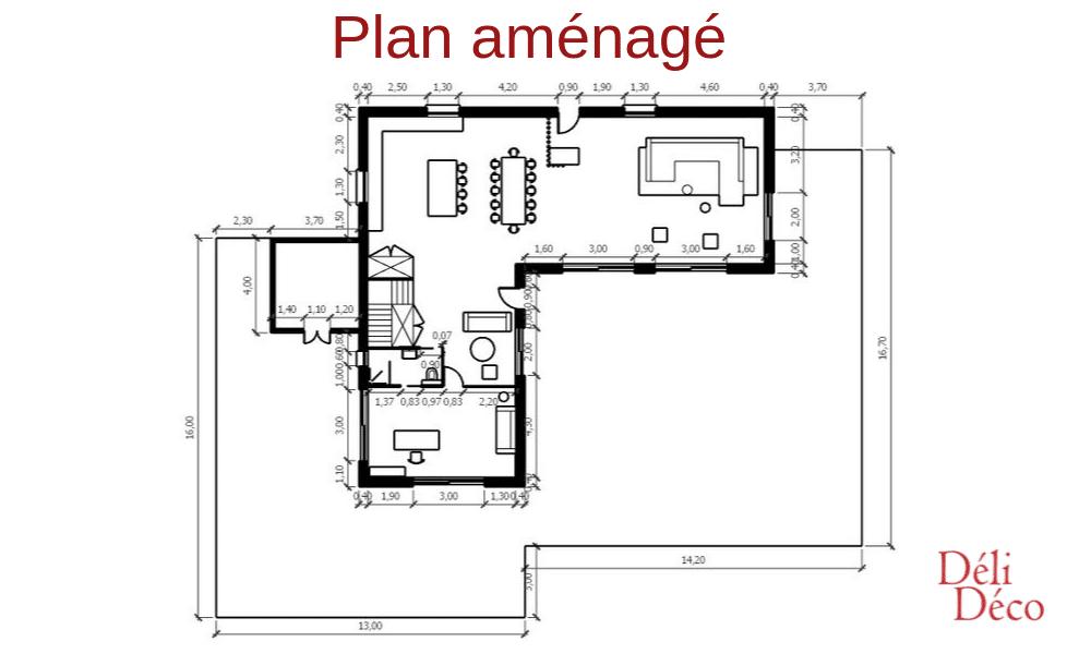 Plan 2D maison de campagne après