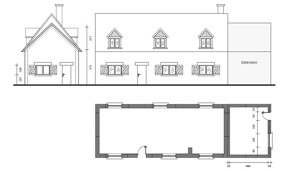 Plan maison avant implantation loft