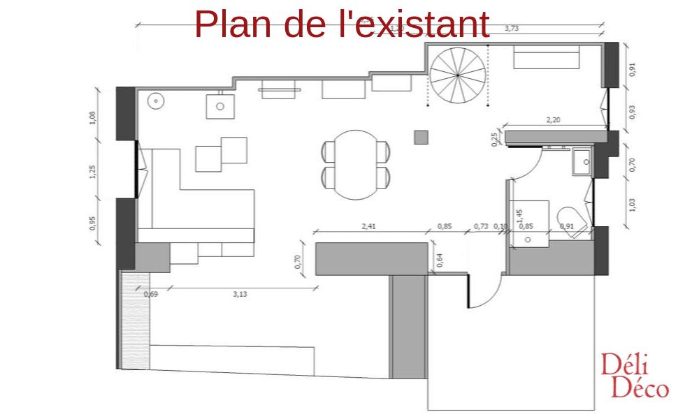 Plan avant préconisations décoratives